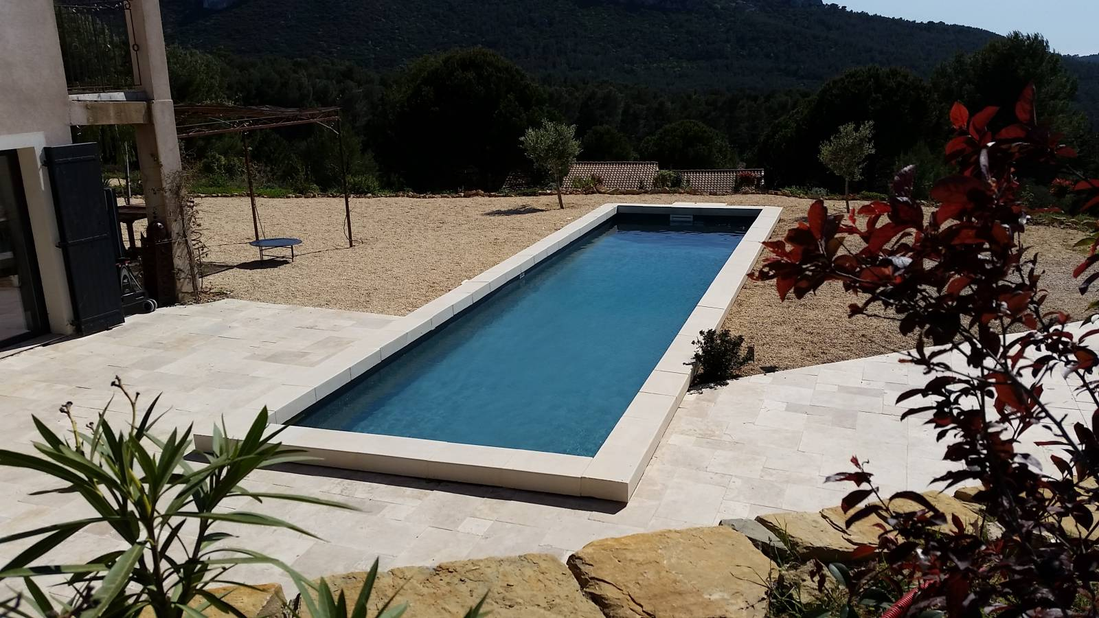 Prix D Un Couloir De Nage couloir de nage 15x3 m gris anthracite pour piscine - jce