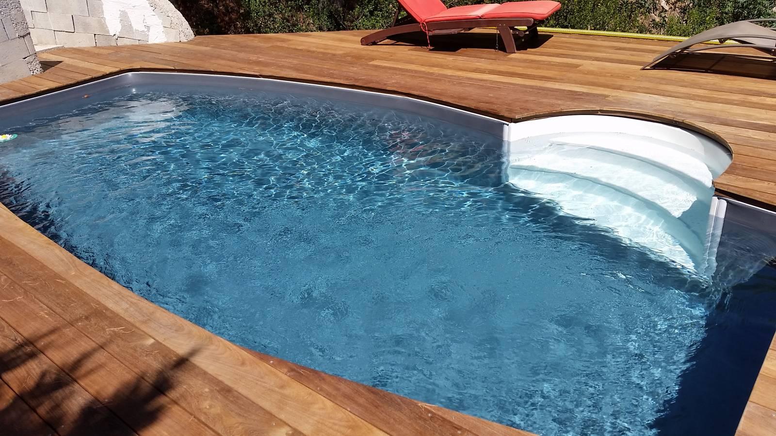 piscine ovo des 6x3 m gris anthracite et blanc jce piscines. Black Bedroom Furniture Sets. Home Design Ideas