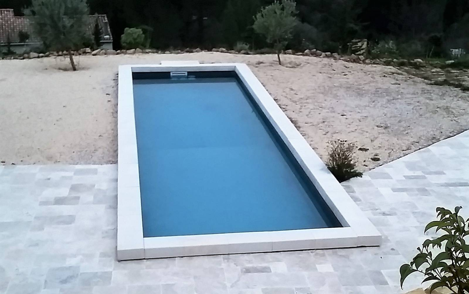 couloir de nage 15x3 m gris anthracite pour piscine jce piscines. Black Bedroom Furniture Sets. Home Design Ideas