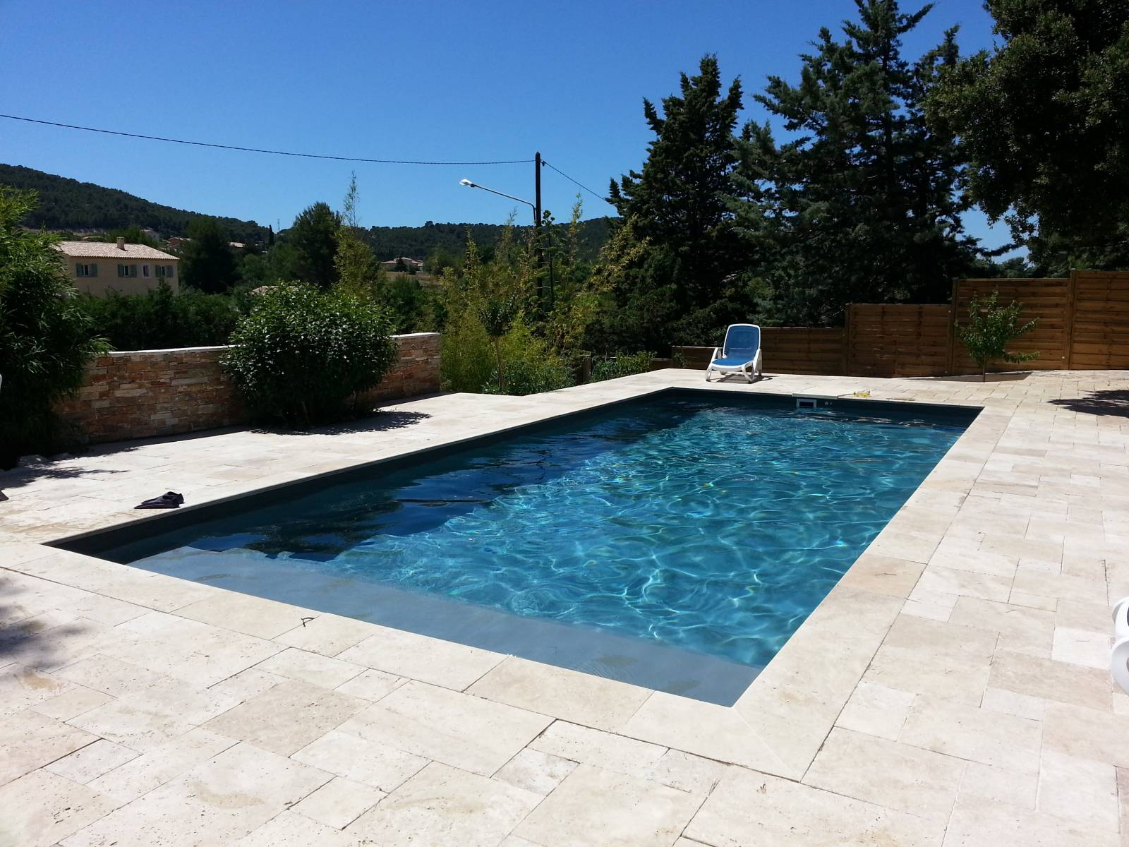 Piscine 9x4m Rectangulaire Gris Anthracite Avec Filtration