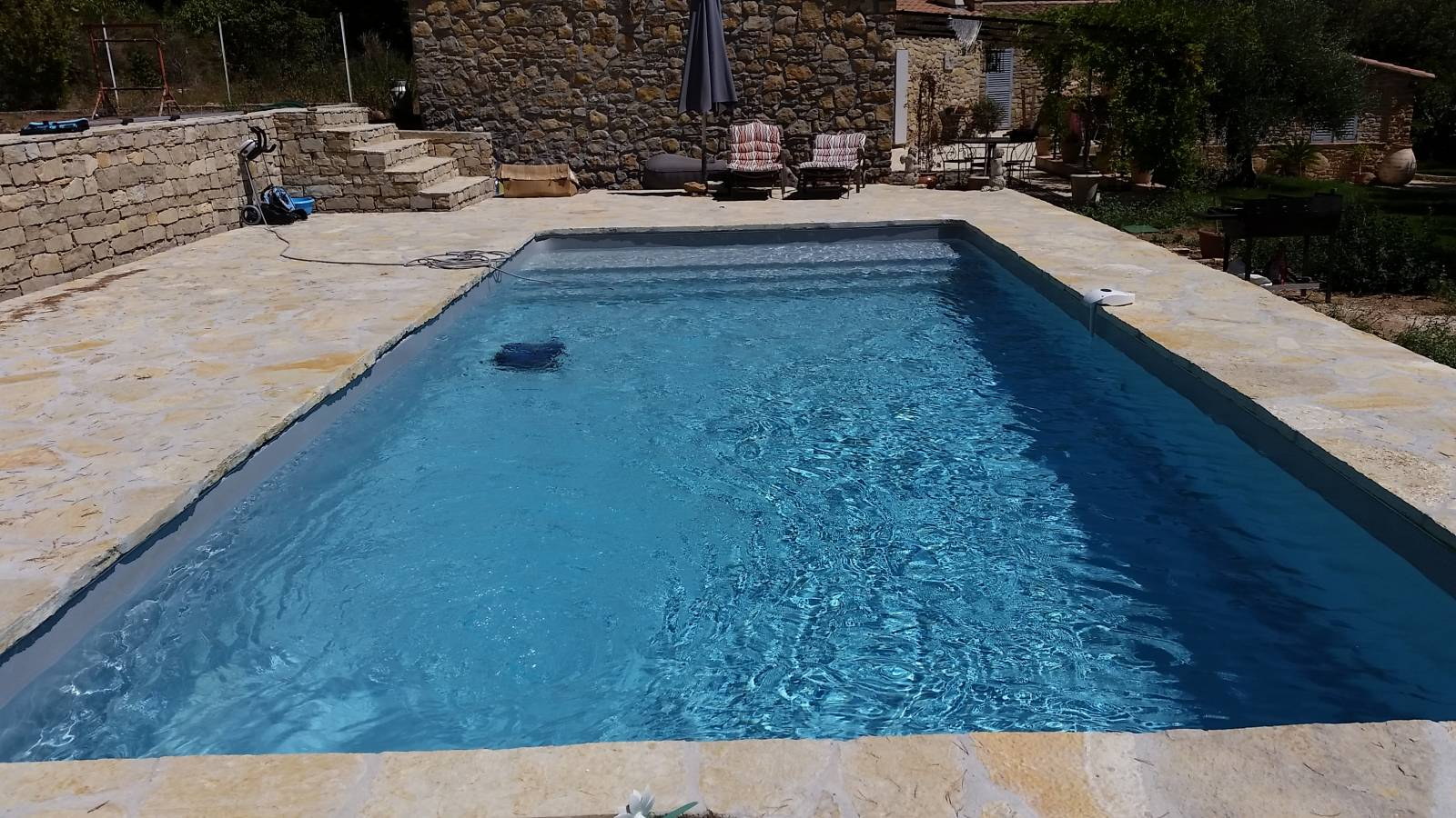 Piscine 9x4m gris clair jce piscines for Piscine tubulaire grise