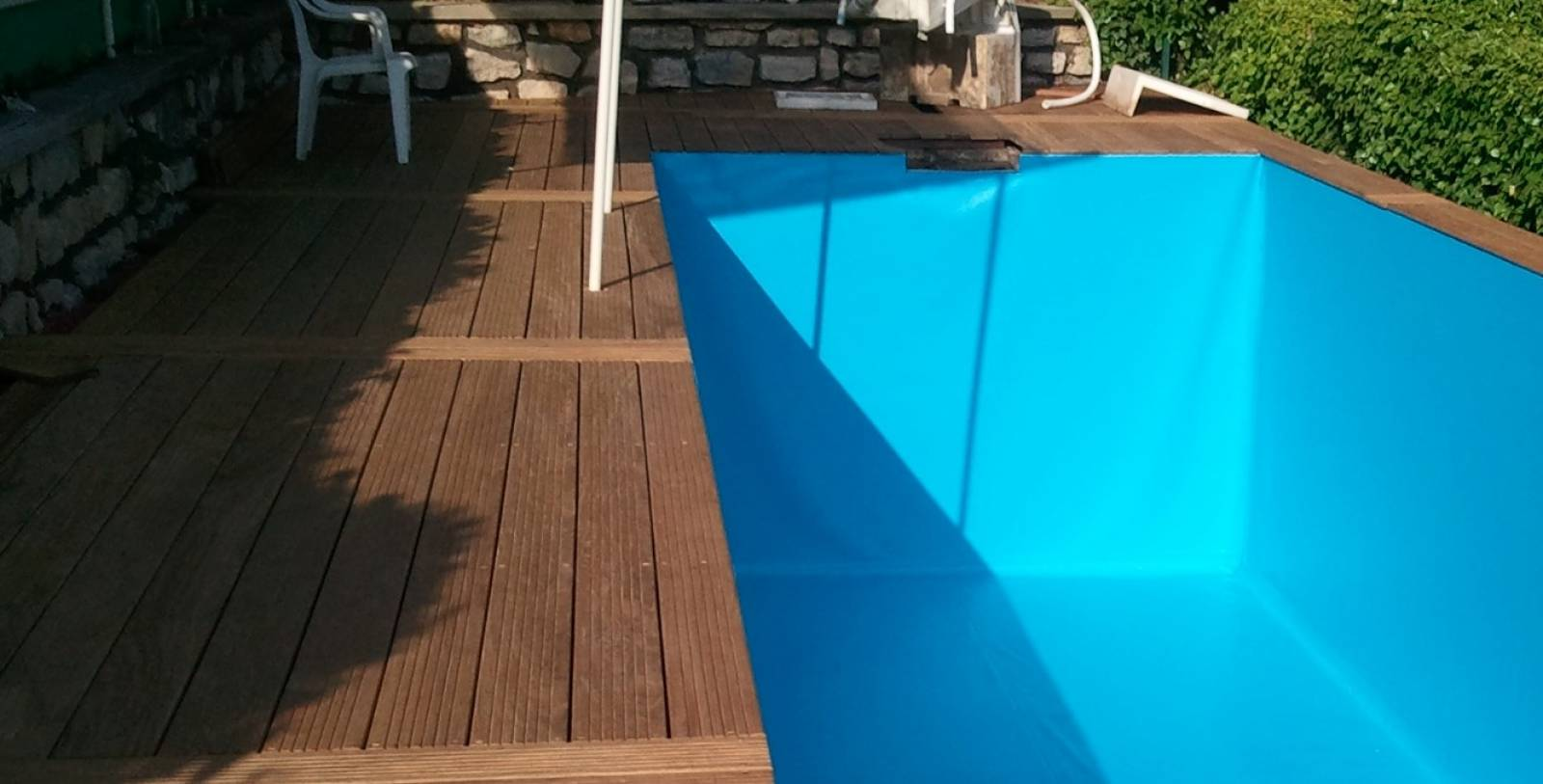 Pose de pvc arm jce piscines for Piscine en pvc arme